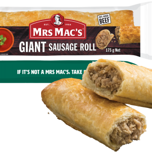 Giant Sausage Roll 6 300x300 - MRS MACS GIANT S/ROLL 24X175GM (1)