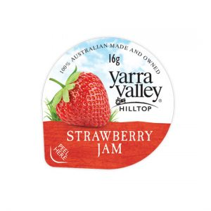 strawberry jam 16g 300x300 - YARRA VALLEY STRAWBERRY JAM PORTIONS