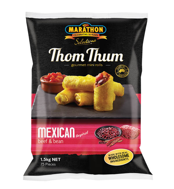 THOM THUM MEXICAN BEEF & BEAN S/ROLL 1 5KG