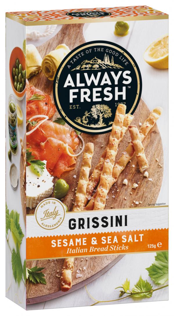 Riviana Grissini Sesame & Sea Salt 125g