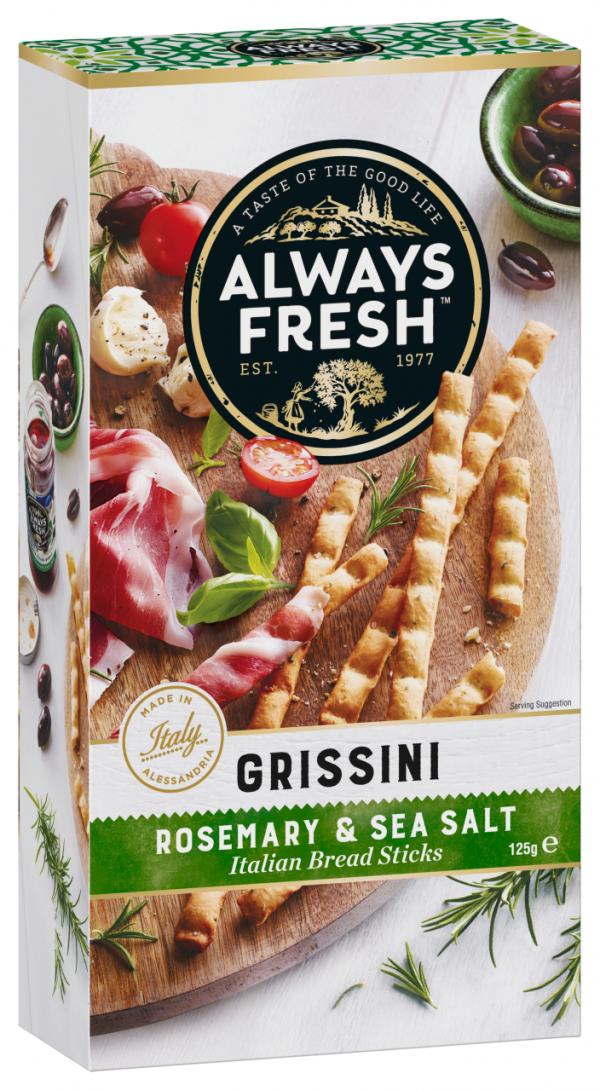 Riviana Grissini Rosemary & Sea Salt 125g