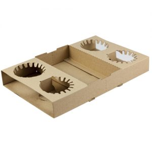 FPA Cardboard 4 Cup Holder 100pc